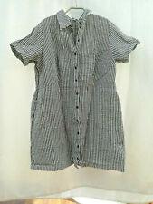 Gr. 48: Kleid / Longbluse - Bluse - Hemd, schwarz/weiss, ungetragen