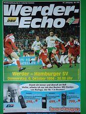 Programm 1994/95 SV Werder Bremen - Hamburger SV