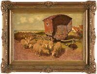 Gemälde Bild Öl Landschaft Ölbild Ölgemälde Signiert Jo Strahn