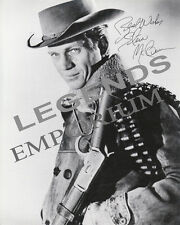 """STEVE McQUEEN AUTOGRAPHED COPY Wanted Dead or Alive  8""""x10"""" B & W  McQ-06"""