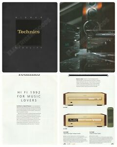 TECHNICS HIGH FIDELITY HI-FI FOR MUSIC LOVERS BROCHURE 1992