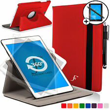 Red Rotating Smart Case Cover for Samsung Galaxy Tab S2 9.7 Scrn Prot Stylus