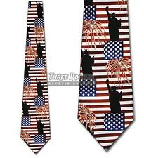 Flag Tie Liberty Neckties Patriotic Americana Neck Ties Nwt