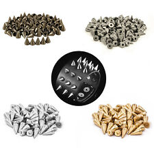 7mm x 13mm 50pcs Cone Rivet Press Studs Spikes For Leather Crafts DIY Jackets