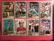 1984 Topps White Sox master team set and traded Mint Seaver Fisk razor sharp