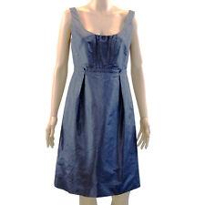 J. Crew Size 6 S Dress Gray-Blue Silk Taffeta Sleeveless Lined