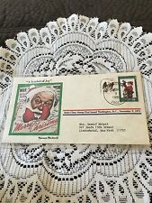 Vintage First Day Cover Norman Rockwell Santa Claus Symbol Of Joy 1980