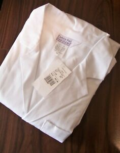 Men's Fashion Seal Lab Coat ,# 423, Knee Length, Knot Cloth Buttons ~ White
