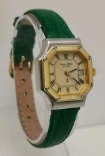 Vtg Mappin & Webb Octagonal Quartz Ladies Gold Stainless Steel Date Wrist Watch