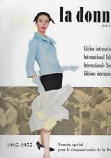 Rivista Magazine La Donna Edizione Internazionale 50 anni Aprile 1955 Rizzoli