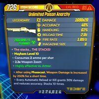 (PS4) Borderlands 3 [Level 65/Mayhem 10] Anarchy x20 (Corr) (250%PHASECAST)