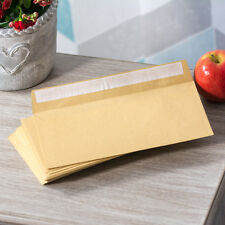 100 DL Envelopes Manilla Plain 80gsm 220mm x 110mm Self Seal Office Letter Pack