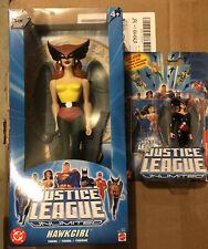 justice league unlimited 10 Inch Hawkgirl & Bonus Figure NIP