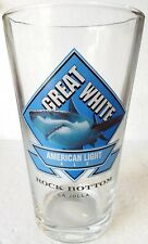 New Rock Bottom Brewery One (1) Great White American Light Ale Beer Pint Glass