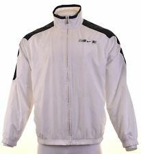NIKE Mens Tracksuit Top Jacket UK 41/43 Large White Polyester  ES15