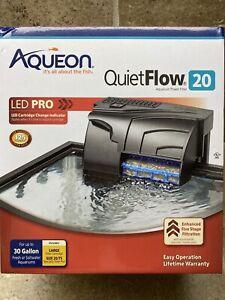 🔥Aqueon QuietFlow 20 LED Pro Aquarium Power Filter Up to 30 Gallons BEST DEAL🔥