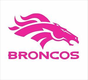 Denver Broncos Football Vinyl Decal Sticker for NFL Car Truck Window Yeti Rtic