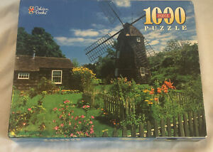 Vintage 1998 Golden Books 1000 PC. Puzzle UNOPENED Windmill, East Hampton NY