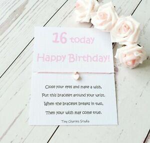 16th Birthday Wish Bracelet Sweet 16th Gift  Friendship Milestone Gift For Girls