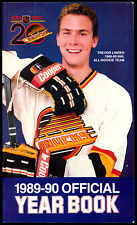 1989-90 VANCOUVER CANUCKS HOCKEY YEARBOOK MEDIA GUIDE WITH TREVER LINDEN RC YEAR