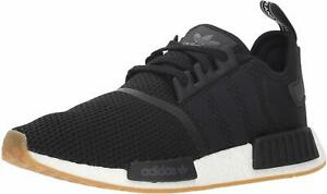Adidas B42200: Men's Originals NMD_R1 Black/Black/Gum Running Sneakers