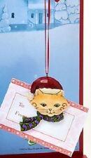 JIM SHORE CHRISTMAS KITTY CAT 3D ORNAMENT CASH GIFT CARD HOLDER FIGURE +ENVELOPE