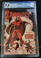 Avengers 57 1st Vision!  CGC 7.5 White Pages!