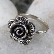 Schöner  Ring aus Sterling Silber bestückt mit Markasit - Gr.62 - 19,7  mm