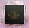 LC-7582   SANYO INTEGRATED CIRCUIT QFP (LOT OF 5) ''UK COMPANY SINCE1983 NIKKO''
