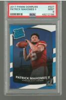 2017 Donruss Rated Rookie #327 Patrick Mahomes II RC Rookie Chiefs PSA 9 MINT