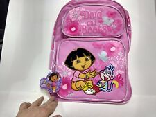 New Kids Pink Nickelodeon Dora and Boots Double Comp Large Backpak        PRS129