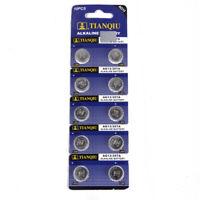 10Pcs AG13 LR44 SR44 L1154 357 A76 Quality Alkaline Button /Coin Cells Batteries