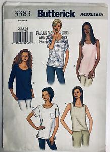 Butterick 3383: Sizes 6,8,10,12,14 (XS,S,M) Sewing Pattern, Shirts Blouse Tops
