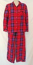 VICTORIA'S SECRET Red Purple Plaid Pajama Set Cotton Flannel XSmall