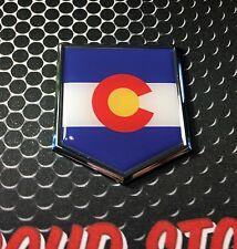 """Colorado Flag Domed CHROME Emblem Proud Flag Car 3D Sticker 2""""x 2.25"""""""