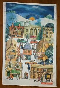 St. Andrew's Christmas Service  tea towel by Emma Bridgewater with a defect.