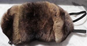 Fourrure Masque Vert Chinchilla Yeux Wellness Lunettes Relax Nature Camel