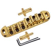 Gold Roller Saddle Locking Bridge for Gibson LP Guitar Bridge