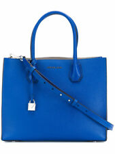 Michael Kors NWD Electric Blue Mercer Large Convertible Leather Tote 30f6sm9t3l