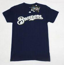 MLB Milwaukee Brewers Youth Boys #8 Ryan Braun Navy T-Shirt Size 14-16
