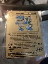Pokemon Base Set 1st Edition 2/102 Blastoise. Metal Card