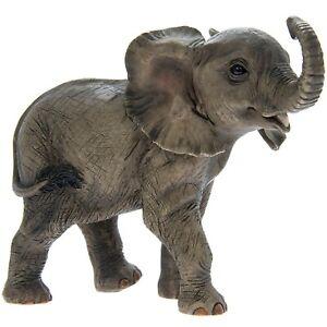 Standing Elephant Calf Animal Shaped Figurine Ornament Statue Home Decoration