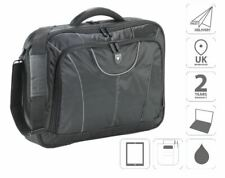 "17"" Laptop Bag Briefcase Shoulder Bag Black FI2545 & Free iPad Bag"