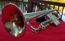 Conn Silver Professional Trumpet 5B Symphony satin with polished engraving