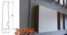 BATTISCOPA HDF 80X16 taglio Quadro moderno in 4 COLORI DIVERSI. OFFERTISSIMA!!!