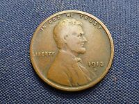 1913 D Lincoln Wheat Cent  ~   Key Year  Coin ~ Fine