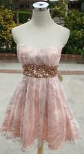 NWT MASQUERADE $80 PEACH Dance Club Party Prom Dress 5