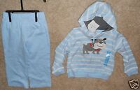 Carters 24 mos girls Baby Hooded Outfit pants jacket Dog zip front hoodie