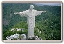 FRIDGE MAGNET - CHRIST THE REDEEMER - Large Jumbo - Rio De Janeiro Brazil Forest