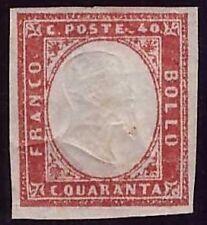 SARDEGNA 1859 - 40 c. n. 16Ca NUOVO € 1.650